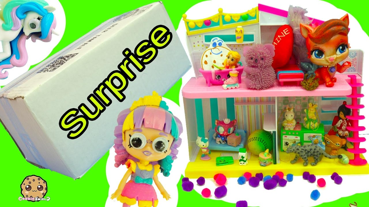 Download Handmade Toy Surprise Blind Bags Party At Shoppies Doll Rainbow Kate's Happy Places House