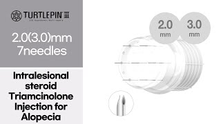 [ 2.0 (3.0)mm |7 needles ] Intralesional steroid triamcinolone injection for Alopecia