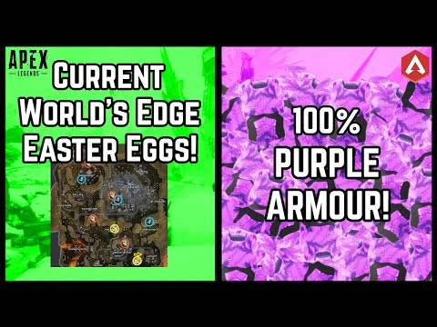 All World's Edge HIDDEN EASTER EGGS! (Solved & Unsolved) + 100% Purple Armour Reward! Apex Legends