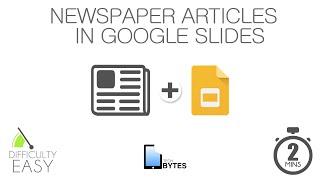 Tech Bytes - Newspaper Articles in Google Slides