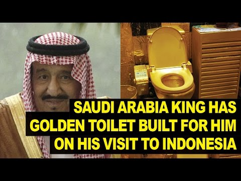 Saudi Arabia King Brings GOLD Toilet With Him To Indonesia
