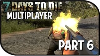 "7 Days to Die Alpha 12.5 Gameplay Part 6 - ""SHOTGUN RAIN TIME!"" (Multiplayer)"