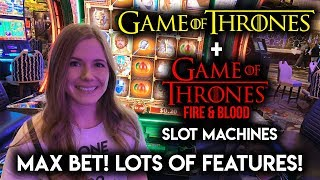 NEW Game of Thrones VS Old Game of Thrones Slot Machines! MAX Bet Lots of Features!