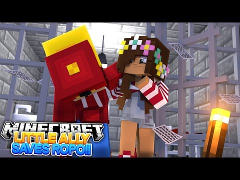 Minecraft Adventure - LITTLE ALLY SAVES ROPO FROM RAMONA!!