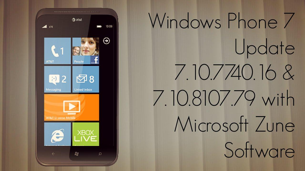 Windows Phone 7 Update 10 7740 16