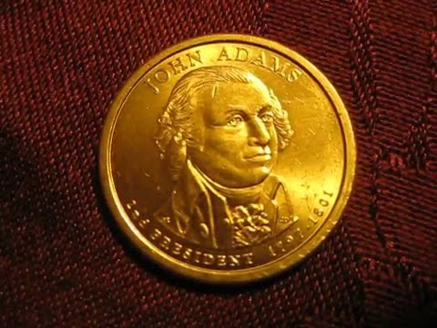 John Adams 2007 P 1 Gold Coin Veda 4 14 2016💰 Youtube