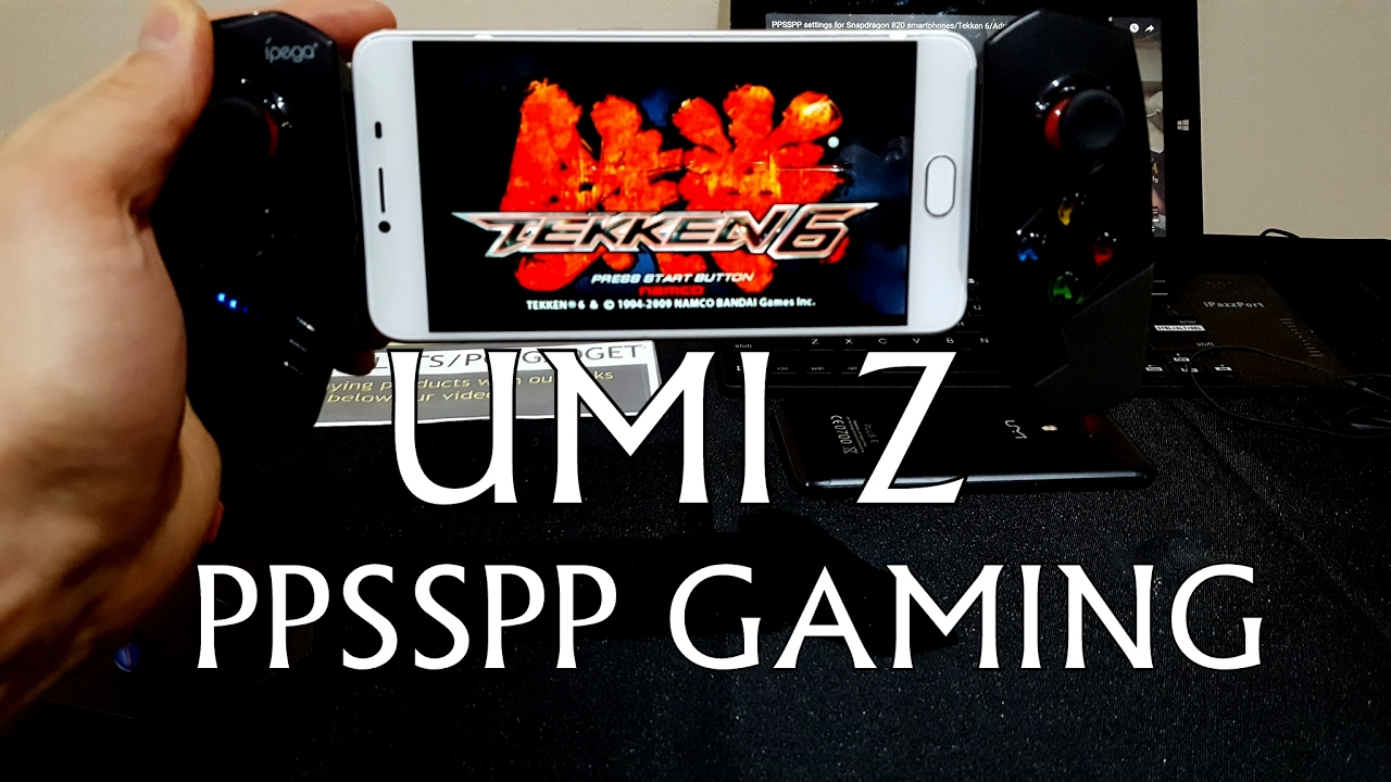 UMI Z PPSSPP gameplay/PSP games/gaming/with gamepad(Tekken/DBZ)Helio X27  with Mali T880 MP4