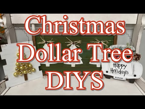 3 DOLLAR TREE CHRISTMAS DIY/// High End//