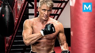 Dolph Lundgren aka Ivan Drago Workouts for Creed | Muscle Madness