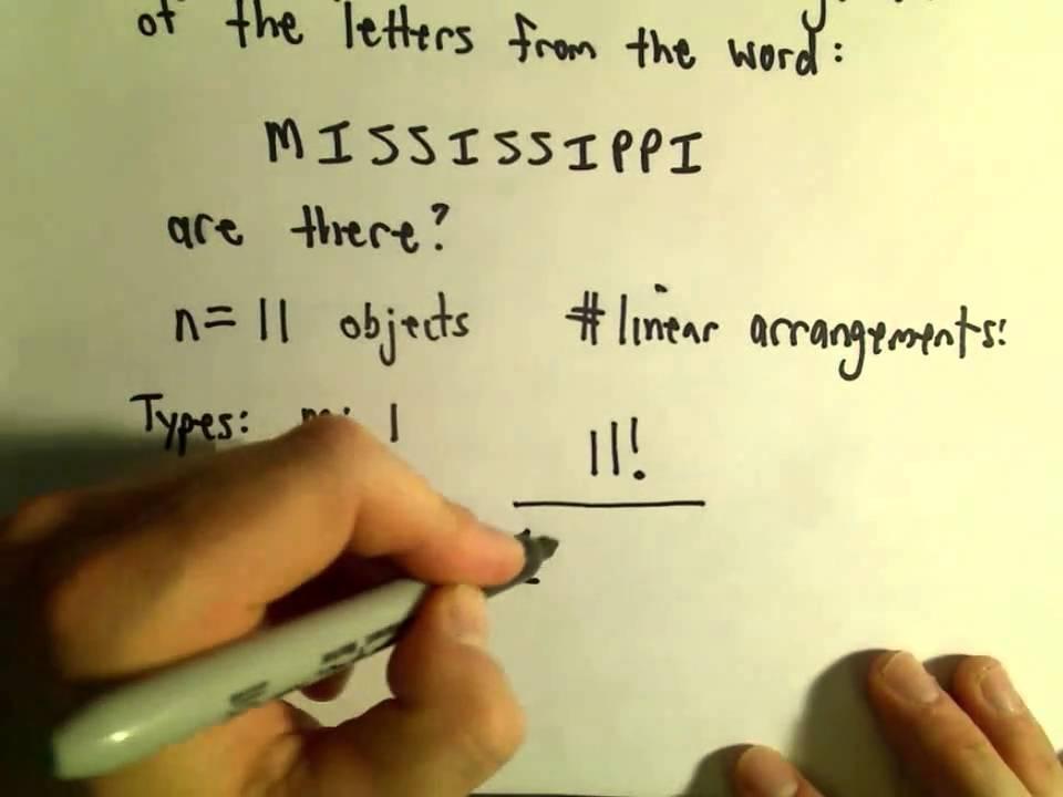 Permutations Involving Repeated Symbols Example 1 Youtube