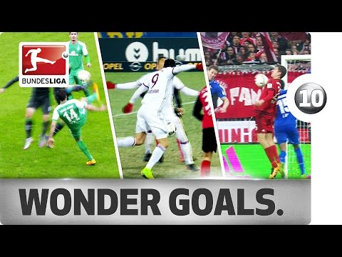 Top 10 Most Skilful Goals - Lewandowski, Modeste, Müller and More