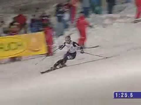 Bode Miller - Awesome slalom run in Sestriere 2005