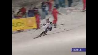 Bode Miller - Awesome slalom run in Sestriere 2005