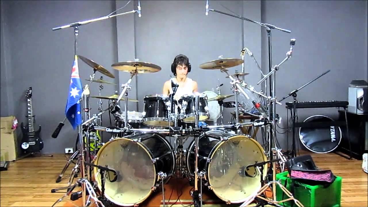 Jamie S Cryin Van Halen 15 Year Old Drummer Youtube