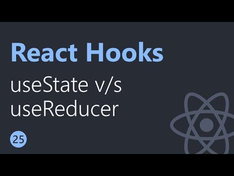React Hooks Tutorial - 25 - useState vs useReducer thumbnail