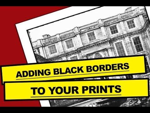 Darkroom Photography Process - BLACK BORDERS