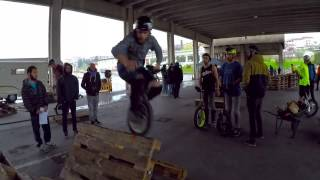 Unicycle - TRIAL FINAL clips - Campionati italiani Urban - Mondovì CN