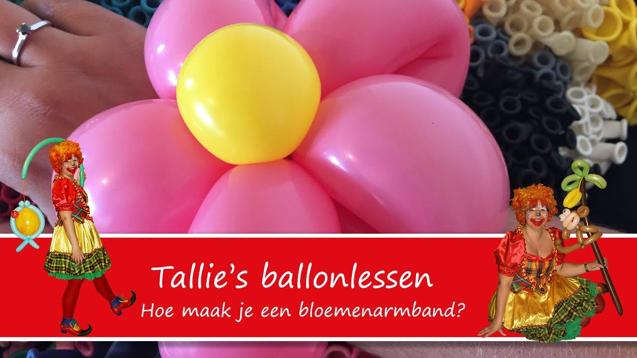 Uitgelezene Tallie's ballonlessen - Hoe maak je een bloemenarmband? - Balloon RA-05
