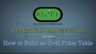 How To Build An Oval Poker Table