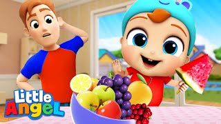 No More Snacks Baby John! | Yummy Vegetables & Healthy Habits Song | Little Angel Kids Songs