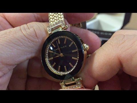 Anne Klein Women's AK/1906BKGB Swarovski Crystal-Accented Watch