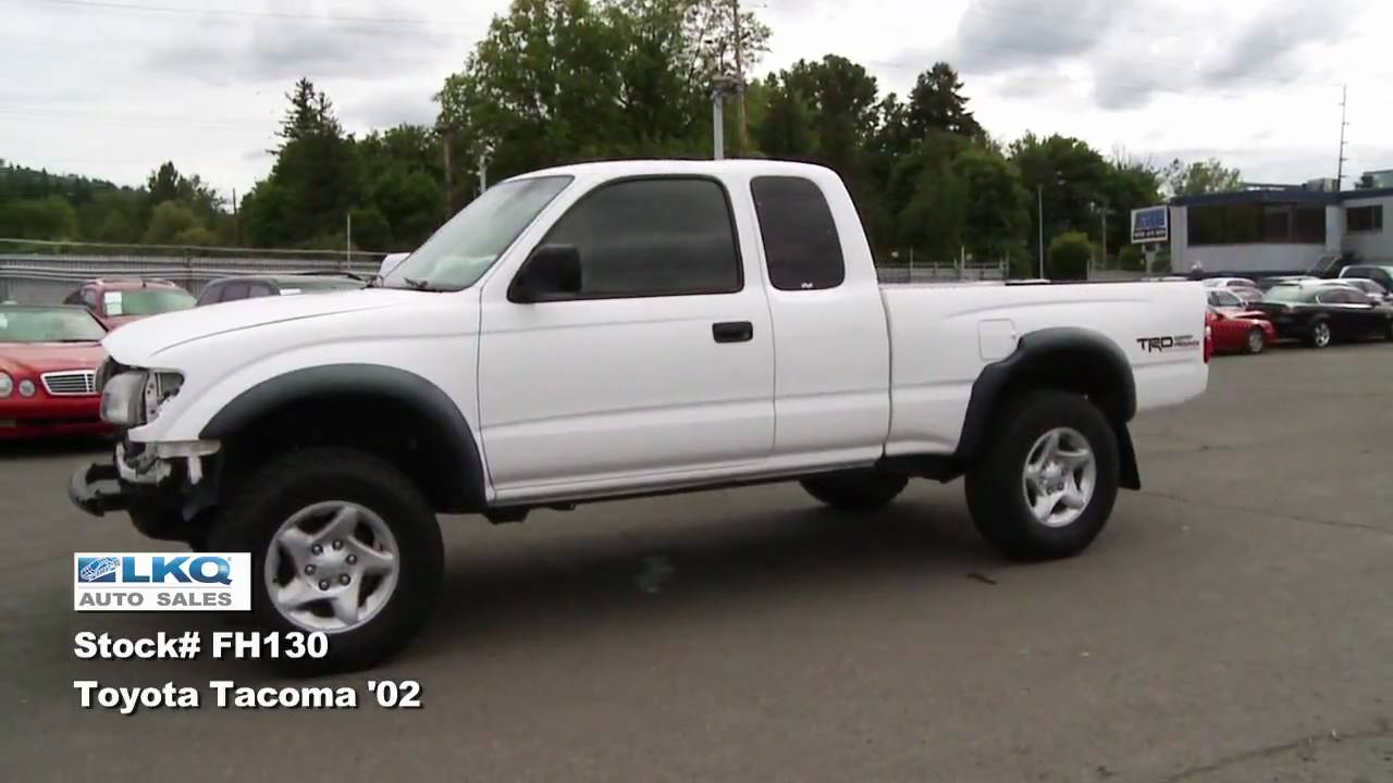 sold 2002 toyota tacoma trd xtra cab 4wd repairable youtube. Black Bedroom Furniture Sets. Home Design Ideas