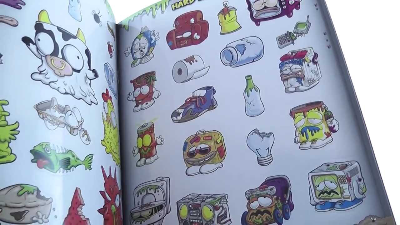 Trash Pack Coloring Book Stickers Tattoos - YouTube