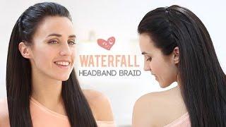 waterfall headband braid   step by step