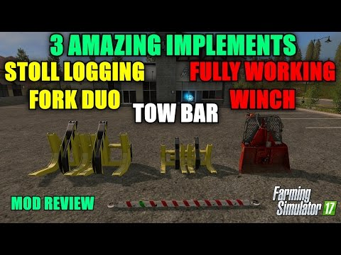 "My Edited VideoFarming Simulator 17 - 3 Amazing Implements ""Mod Review"""