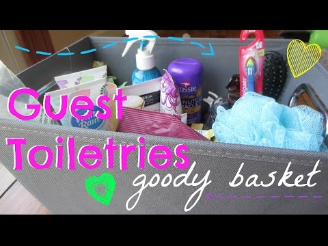 House Guest Toiletries Basket | DIY Idea