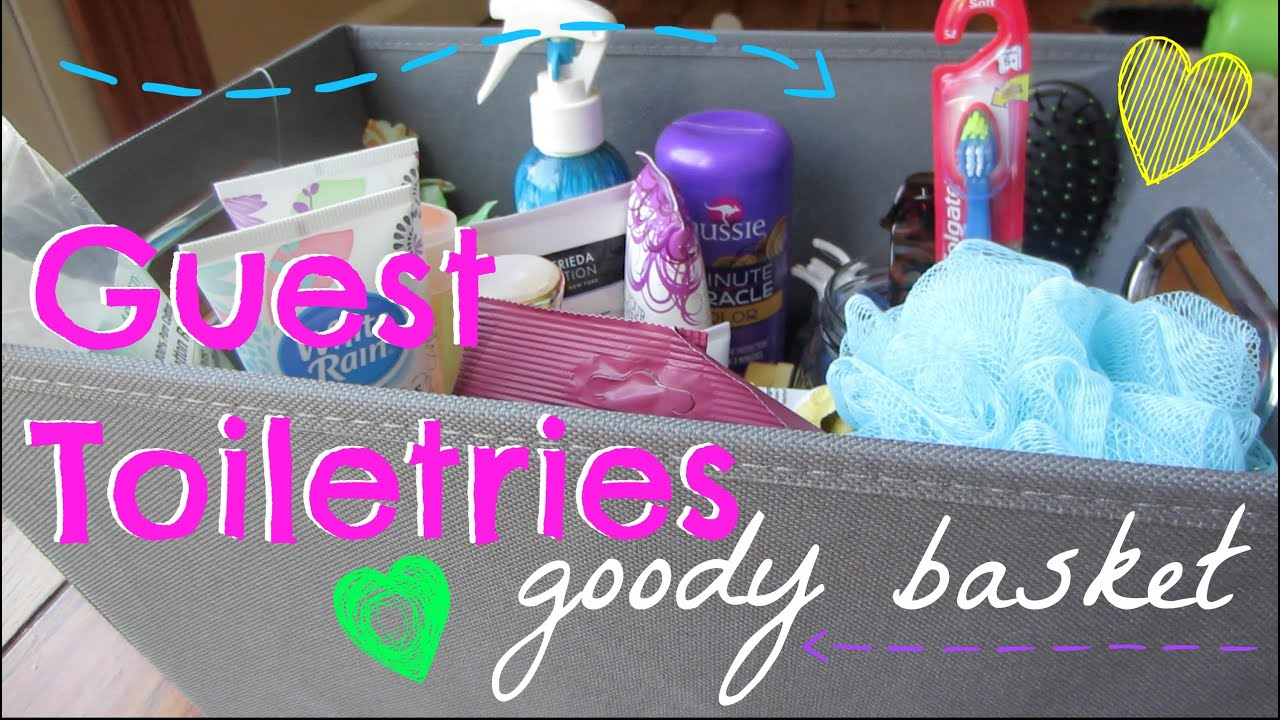 House Guest Toiletries Basket Diy Idea Youtube