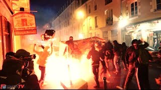 Rennes : soirée de guerilla urbaine antifasciste contre un meeting du Front National thumbnail