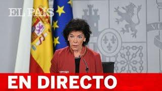 DIRECTO RUEDA DE PRENSA CONSEJO DE MINISTROS