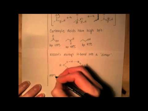 Carboxylic Acid Structure & Physical Properties