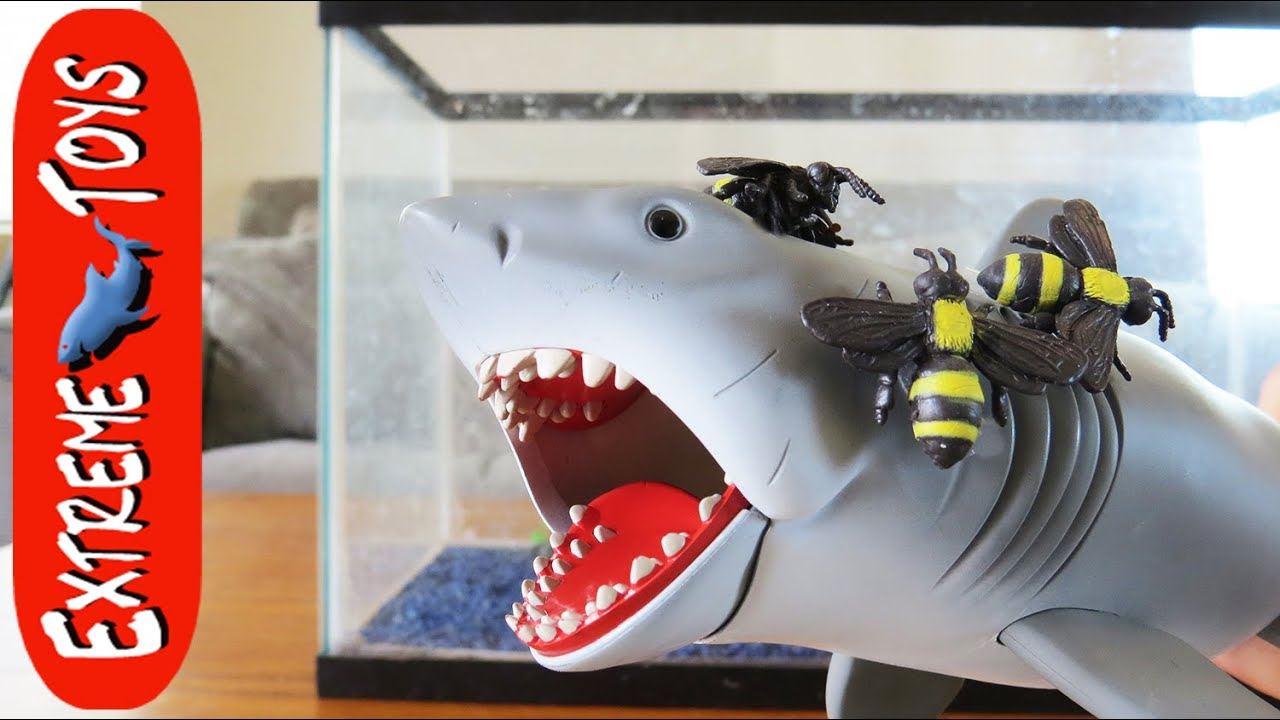 Megaladon Sharks Toys For Boys : Killer bee attack shark toy helps boys fight a giant