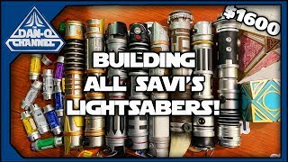 Let's build EVERY SAVI'S CUSTOM LIGHTSABER from Galaxy's Edge