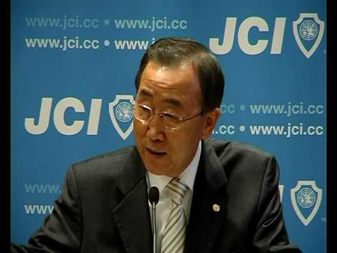The UN Secretary-General Ban Ki Moon addresses JCI Global Partnership Summit