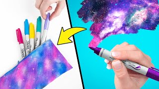 How To Make 3 Super Cool Galaxy School Supplies 👩🏽‍🚀🌌