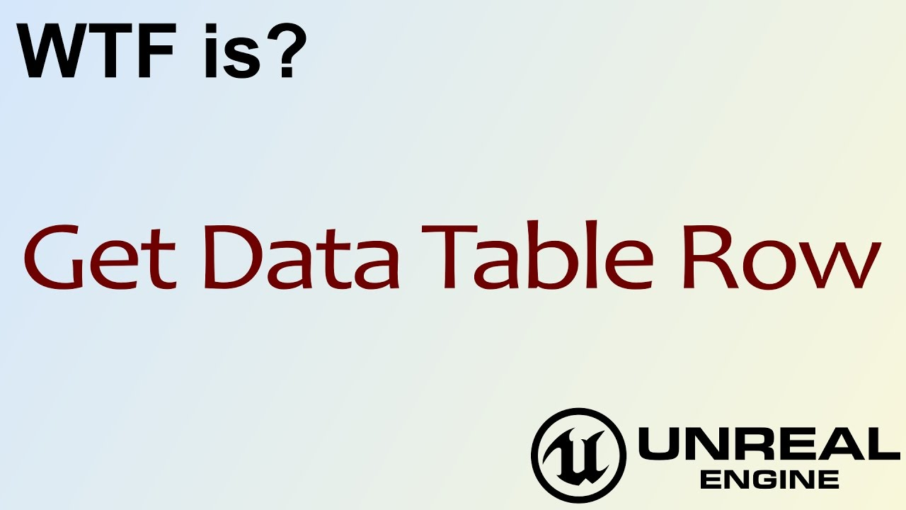 Get Row From Datatable