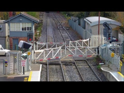 Level Crossing - Old wheel operated gates at Clonsilla Station