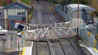 Level Crossing - Old wheel operated gates at Clonsilla Station thumbnail
