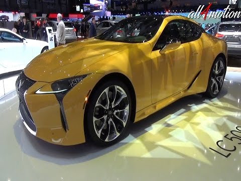 Lexus LC 500 yellow Walkaround | Geneva Autoshow