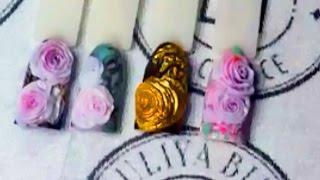 Юлия Билей - Лепка розы из акрила и геля / Julia Biley - Sculpting of acrylic 3D rose Periscope