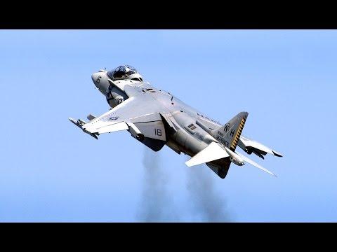 Harrier Jump Jet (AV-8B Harrier II) - Spectacular Action - 2014 Stuart Air Show