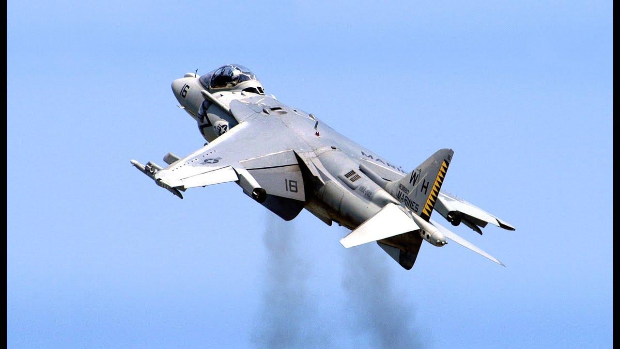 Harrier Jump Jet AV8B Harrier II  Spectacular Actio  Doovi