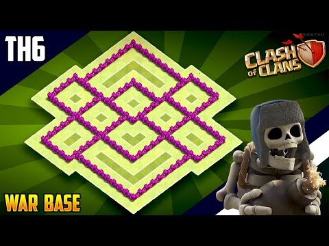 New EPIC TH6 WAR/TROPHY[defense] Base 2018!! COC Town Hall 6 War Base Design - Clash Of Clans