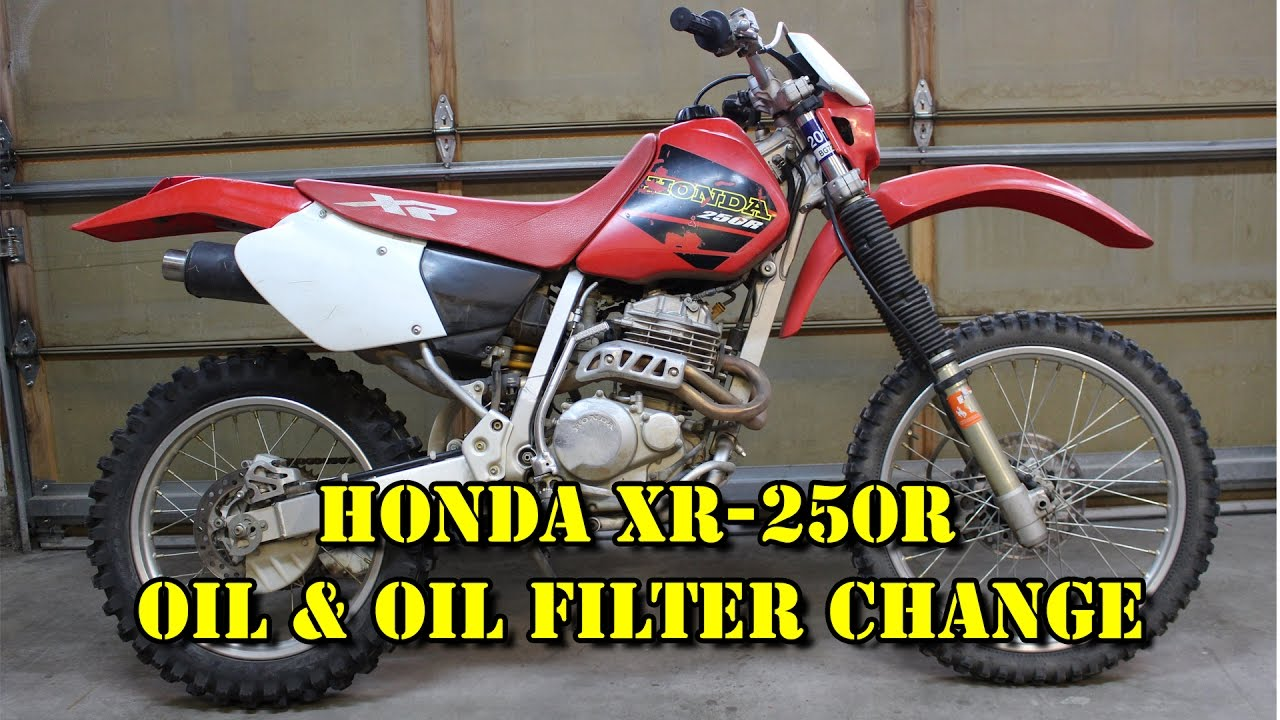 Honda XR 250R - Oil & Oil Filter Change/ Maintenance - 1998 1999 ...