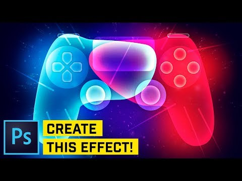 ADVANCED: Glowing PS4 Controller Photoshop CC 2018