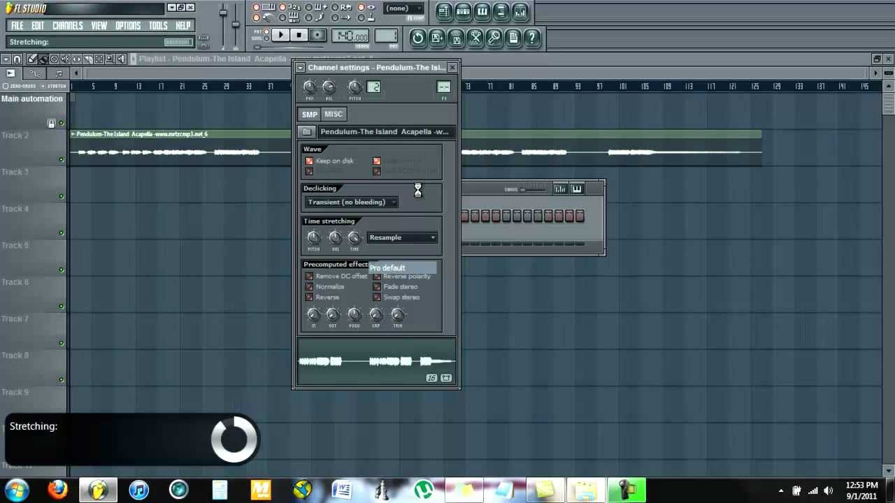 FL Studio Tutorial: How to Change the Tempo of a Sample Without ...