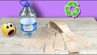 Maliyeti Çok Az ✅ Plastik Su Bidonu ve Saman Kağıt İle Çok Güzel Bir Dekor Yaptım